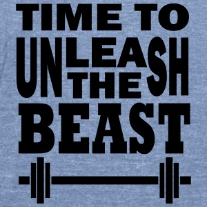 Unleash the beast Tanks - Unisex Tri-Blend T-Shirt by American Apparel