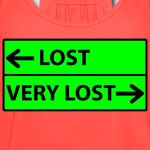 Lost - Very Lost Road Sign T-Shirts - Women's Flowy Tank Top by Bella