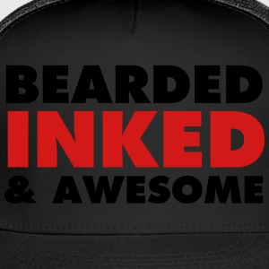 Bearded, Inked & Awesome T-Shirts - Trucker Cap