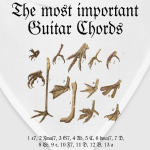 Guitar T-Shirt Most Important Chords (Men) - Bandana