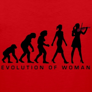 evolution_female_violin_player_112014_a_ Women's T-Shirts - Men's Premium Tank
