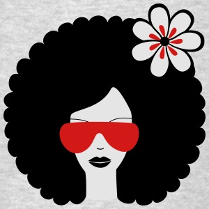 Curly haired sommer girl with flower Hoodies - Men's T-Shirt