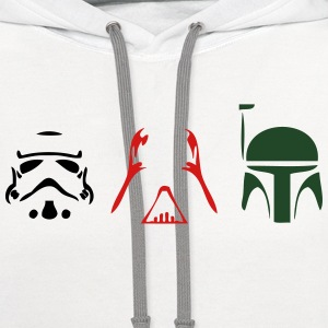 Trooper, Vader, Bounty [Star Wars] Kids' Shirts - Contrast Hoodie
