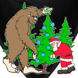 Bigfoot, Santa Christmas - Bandana