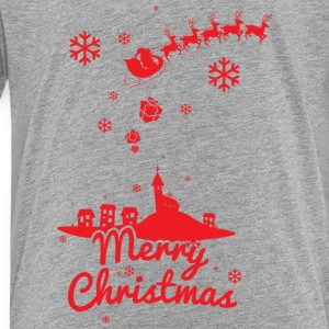Merry christmas, a scene of a small village Sweatshirts - Toddler Premium T-Shirt