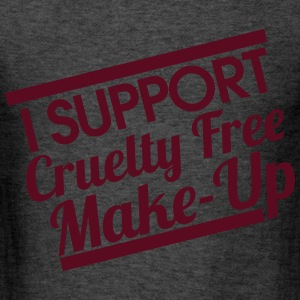 I SUPPORT CRUELTY FREE MAKE-UP - Men's T-Shirt