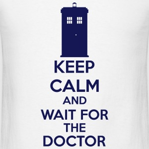 Keep Calm And Wait For The Doctor Long Sleeve Shirts - Men's T-Shirt