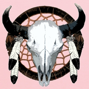 Bison skull on dream catcher  - Kids' Hoodie