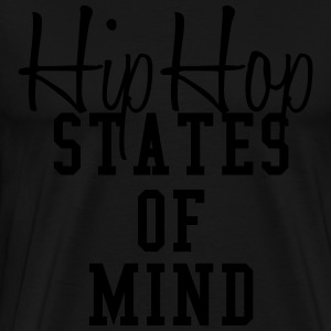 hip hop states of mind Hoodies - Men's Premium T-Shirt