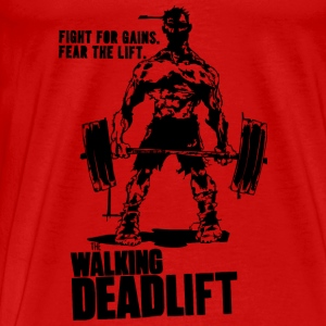 Walking Deadlift Gym Motivation Tanks - Men's Premium T-Shirt