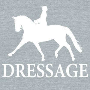 Dressage Horse - white Mugs & Drinkware - Unisex Tri-Blend T-Shirt by American Apparel