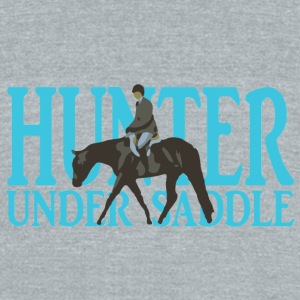 Stock Breed: Hunter Under Saddle - turquoise Mugs & Drinkware - Unisex Tri-Blend T-Shirt by American Apparel
