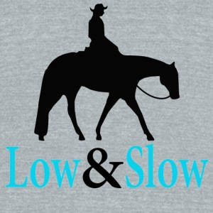 Quarter Horse - Low & Slow Mugs & Drinkware - Unisex Tri-Blend T-Shirt by American Apparel