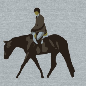 Hunt Seat Horse Mugs & Drinkware - Unisex Tri-Blend T-Shirt by American Apparel