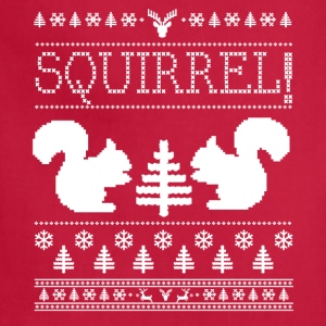 Squirrel Ugly Sweater Women's T-Shirts - Adjustable Apron