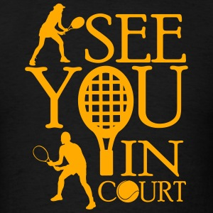 Tennis - I see you in court Tank Tops - Men's T-Shirt