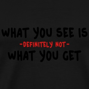 wysiwyg / what you see is what you get 2c Tank Tops - Men's Premium T-Shirt
