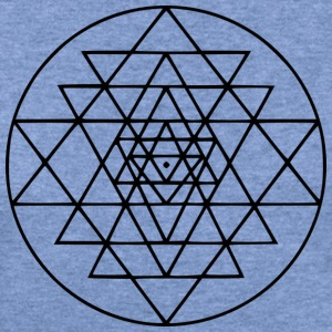 sacred geometry triangles tie dye - Women's Wideneck Sweatshirt