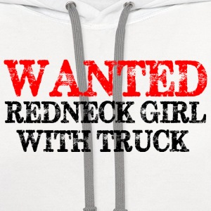 Redneck Girl With Truck - Contrast Hoodie
