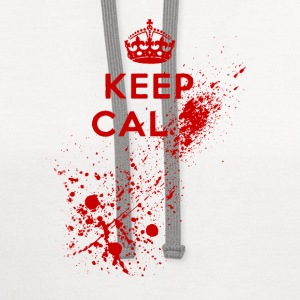Keep Calm Blood Splatter T-Shirts - Contrast Hoodie
