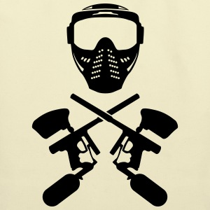 Paintball mask and gun Shirt - Eco-Friendly Cotton Tote