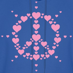Hearts Peace Hippie Symbol Hippy Freedom love Sign - Men's Hoodie
