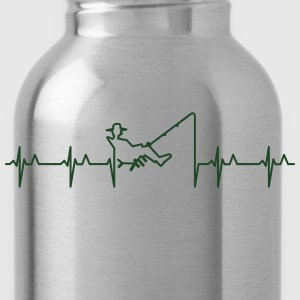 My heart beats for fishing (1c) Baby & Toddler Shirts - Water Bottle