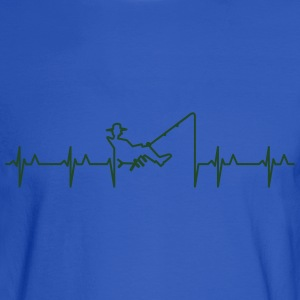 My heart beats for fishing (1c) T-Shirts - Men's Long Sleeve T-Shirt