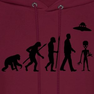evolution_of_man_alien_112014_a_1c Kids' Shirts - Men's Hoodie