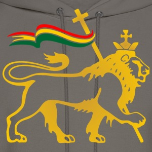 lion, reggae, king, dubstep, rasta, flag, crown, r - Men's Hoodie
