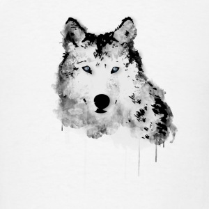 Painted Wolf Buttons - Men's T-Shirt