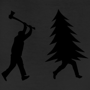 Funny Christmas tree is chased by Lumberjack Accessories - Leggings