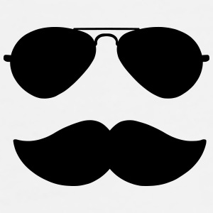 Aviators and Moustache Mugs & Drinkware - Men's Premium T-Shirt