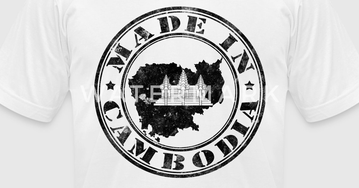 Made in cambodia black t shirt spreadshirt for E kitchen american cambodia