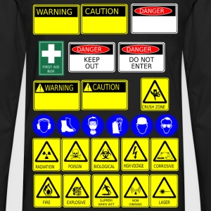 safety signs - Men's Premium Long Sleeve T-Shirt