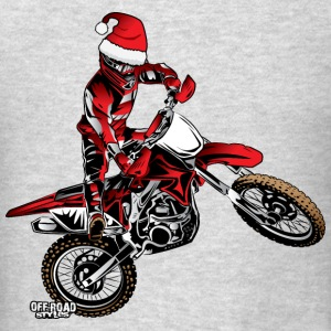 Dirtbiker Christmas Long Sleeve Shirts - Men's T-Shirt