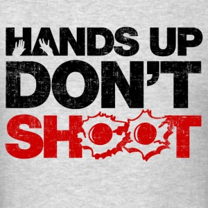 Hands Up Don't Shoot Long Sleeve Shirts - Men's T-Shirt