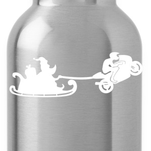 Santa Motorbiker Wheelie - Water Bottle