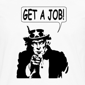 Uncle Sam Get A Job - Men's Premium Long Sleeve T-Shirt