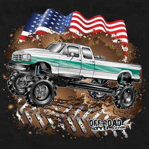 Ford Bronco F350 Mega Truck Mugs & Drinkware - Men's T-Shirt