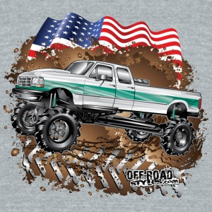 Ford Bronco F350 Mega Truck Mugs & Drinkware - Unisex Tri-Blend T-Shirt by American Apparel