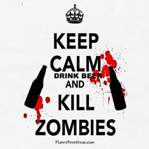 Keep Calm Drink Beer And Kill Zombies Coffee/Tea M - Men's T-Shirt