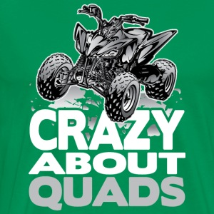 QUAD CRAZY GREY Hoodies - Men's Premium T-Shirt