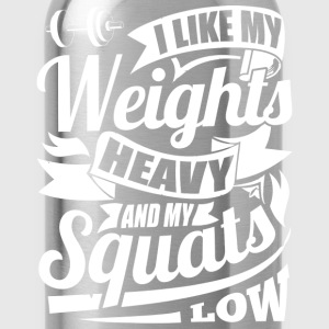 Weights Squats Funny Gym - Water Bottle