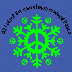 World Peace Snowflake Accessories - Men's T-Shirt