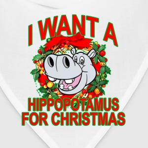 hippopotamus_for_christmas - Bandana