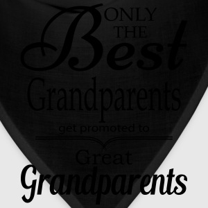 The Best Grandparents Get Promoted to Grandparets T-Shirts - Bandana