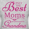 The Best Moms Get Promoted to Grandma Women's T-Shirts - Women's T-Shirt