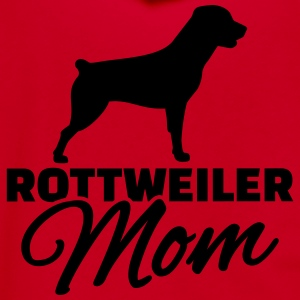 Rottweiler Mom Women's T-Shirts - Unisex Fleece Zip Hoodie by American Apparel