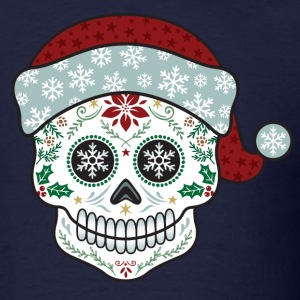 Sugar Skull Santa Hoodies - Men's T-Shirt
